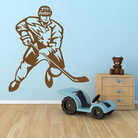 Free Shipping Wall Decal Sticker Hockey Stick Puck Rink Sport Team Game Kids Bedroom Wall Art