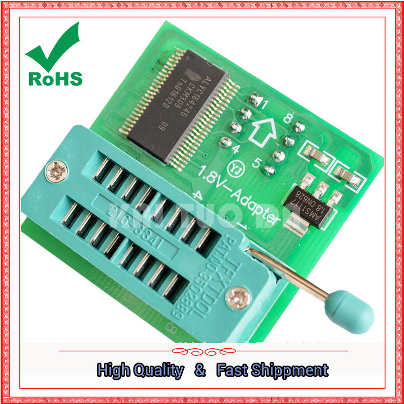 <font><b>1.8V</b></font> Converter Block <font><b>SPI</b></font> <font><b>Flash</b></font> SOP8 DIP8 Conversion Table Board MX25 W25 <font><b>1.8V</b></font> <font><b>Adapter</b></font> Board module image