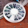 300 pçs/set 3D charme Roda Dicas Gems Cristal Glitter Rhinestone Manicure Acessórios Da Arte Do Prego Decoração de unhas ferramentas Kits