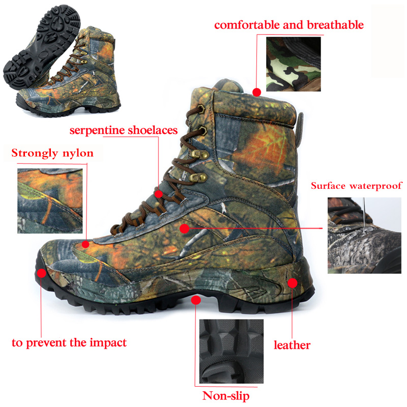 8188980cf41 CUNGE Outdoor Tactical Sport Men's Shoes Waterproof Hiking Shoes Male  Outdoor Winter Hunting Boots Mountain Shoes Men Army Boot