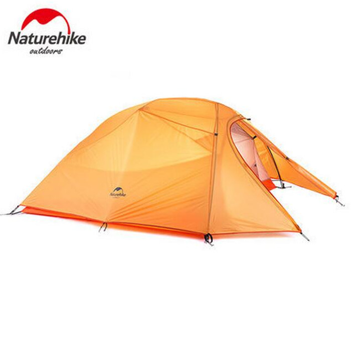 Naturehike Tent 20D Silicone Fabric Ultralight 3 Person Double Layers Aluminum Rod Camping Tent 4 Season With Mat hillman 3 4 person double layer ultralight silicon tent 2d silicone coated nylon waterproof aluminum rod outdoor camping tent