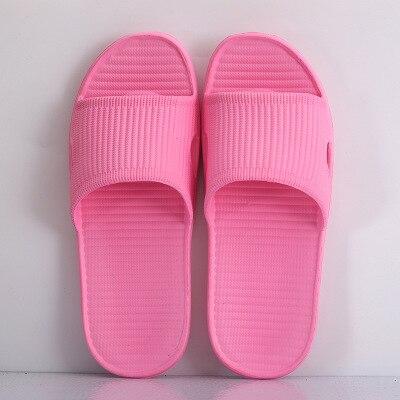 Парные комнатные тапочки eva; домашние сандалии и шлепанцы для отеля; женские летние нескользящие домашние тапочки для ванной; мужские домашние тапочки; - Цвет: Pink