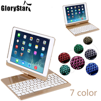 Wireless Bluetooth Keyboard Case For IPad Pro 360 Degree Rotation 7 Colors Backlit Light Wireless Bluetooth
