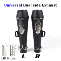 Universal Motorcycle Exhaust Pipe Tip Muffler Left & Right Side Exhaust Tail Pipes Slip On 38 51mm Dirt Bike ATV