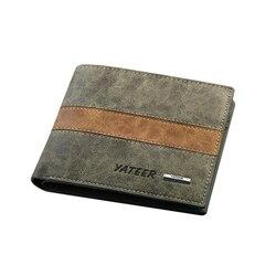 Freies verschiffen neue stilvolle Männer brieftasche + PU Leder + Taschen Kupplung Cente Bifold Geldbeutel, 100% garantie + großhandel WB145