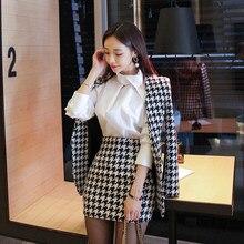 bde3c32c47 Nueva moda OL temperamento cómoda lindo abrigo grueso y delgado mini falda  lápiz salvaje estilo de trabajo al aire libre de la t.
