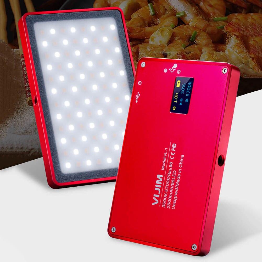 Nouvellement Mini téléphone lumière LED O LED écran 96 perles magnétique en alliage d'aluminium lampe Portable pour Selfie DC128