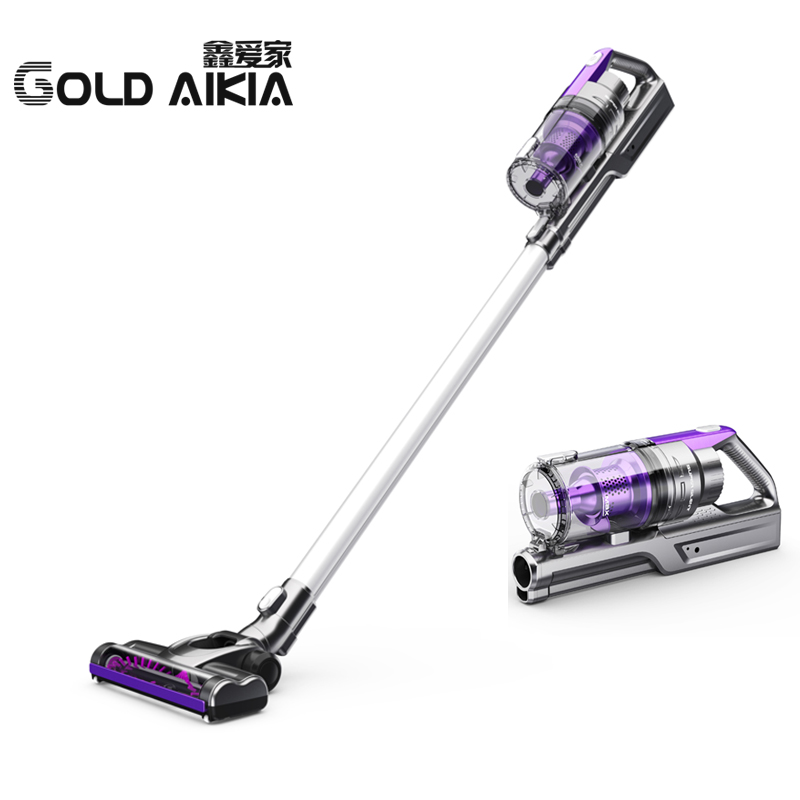 GOLD AIKIA No Supplies Strong Lithium Charge Mute Wireless Hand Hold Putter Type Home Car Dust Removal Mites Vacuum Cleaner