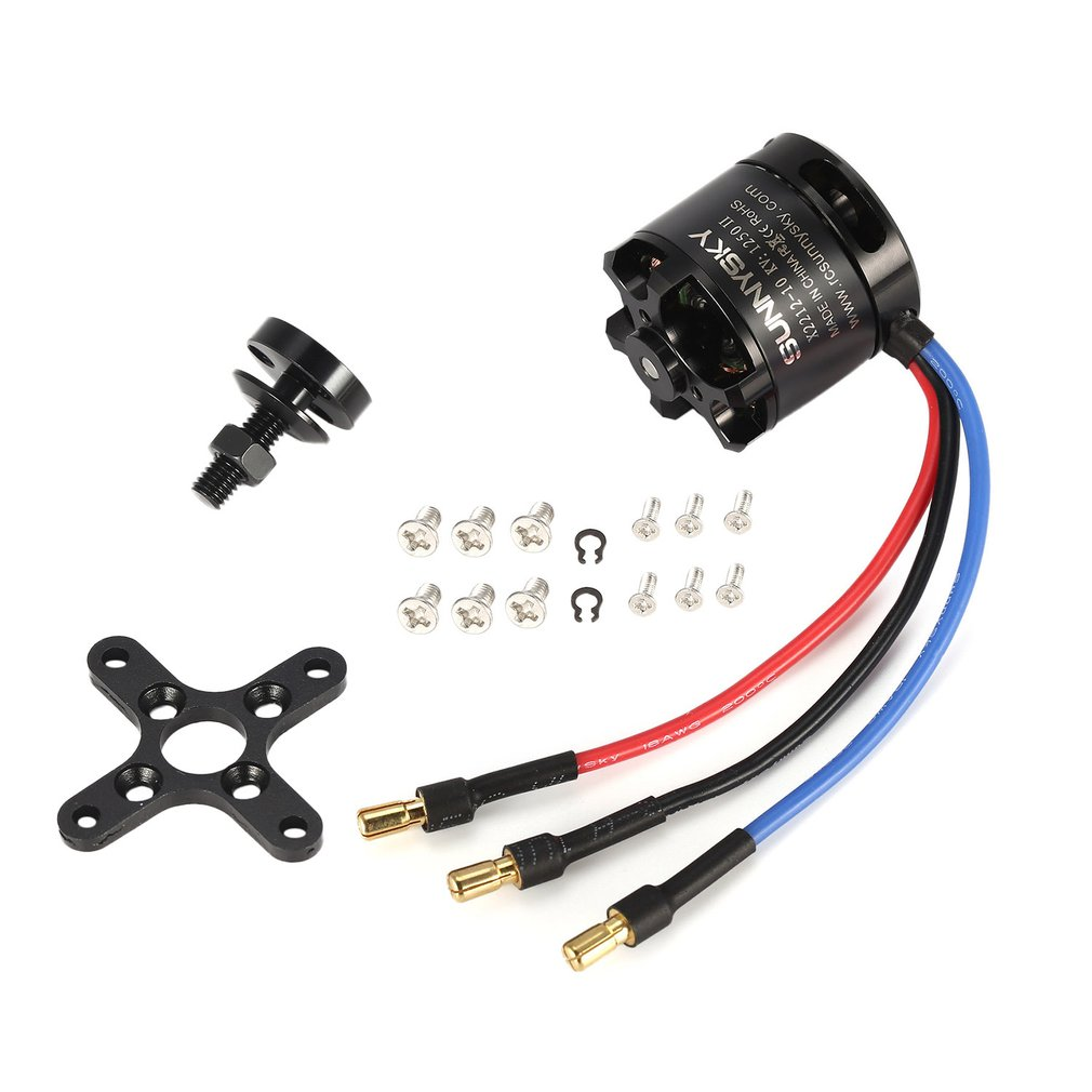 Hot! SUNNYSKY X2212 <font><b>1250KV</b></font> II 2-4S Brushless Motor Short Shaft for RC 400-800g Fixed-wing Quad-Hexa Copter Multicopter DJIF450 image