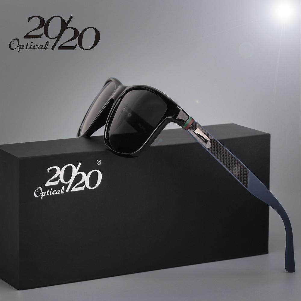 20/20 Märke Classic Polariserad Solglasögon Män Körning Kvadrera Svart Ram Eyewear Male Sun Glasögon för män Oculos