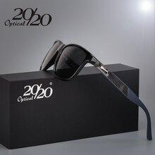 20/20 Brand Classic Polarized sunglasses Men Driving Square Black Frame Eyewear Male Sun Glasses for men Oculos