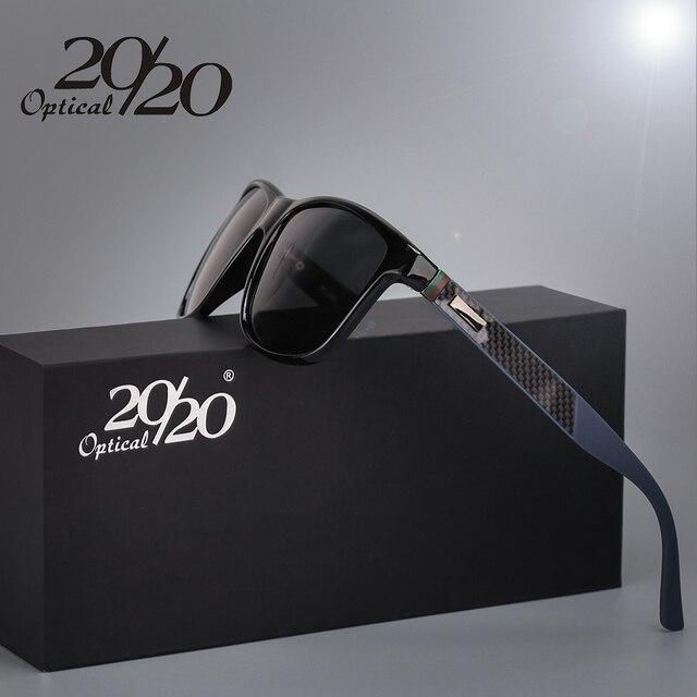 b34b34be9 20/20 Marca Clássico óculos Polarizados Homens Condução Quadrado Preto  Quadro Óculos Masculinos Óculos de