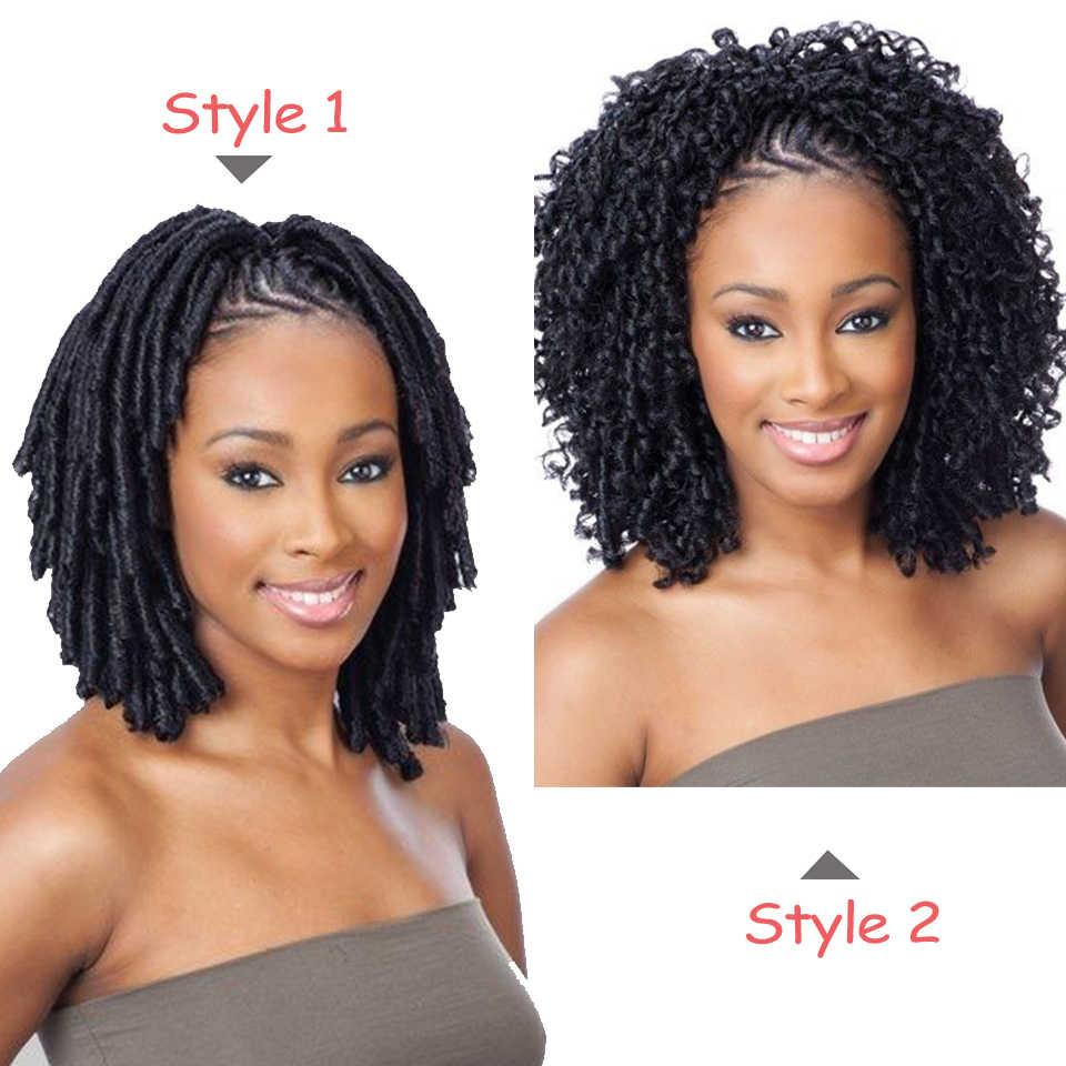 leeven 14'' 70g soft dreadlocks crochet braid hair faux dread hair extensions synthetic braiding hair high temperature fiber
