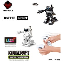 Free Shipping ! New 2013 Unique Kid Toy Remote Control rc Kumite Robot battrobotToys For Children