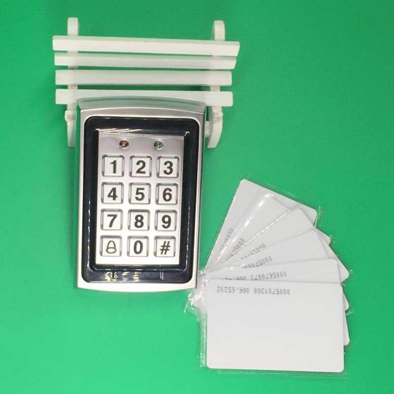 все цены на FREE SHIPPING New RFID Keypad Metal RFID Door Entry Access Control Password Keypad Access Control + 10 piece RFID Card онлайн