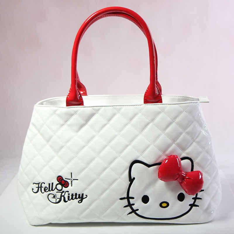 Novas Mulheres Olá Kitty Saco de Compras Grande Sacola Bolsa de Ombro CC16011