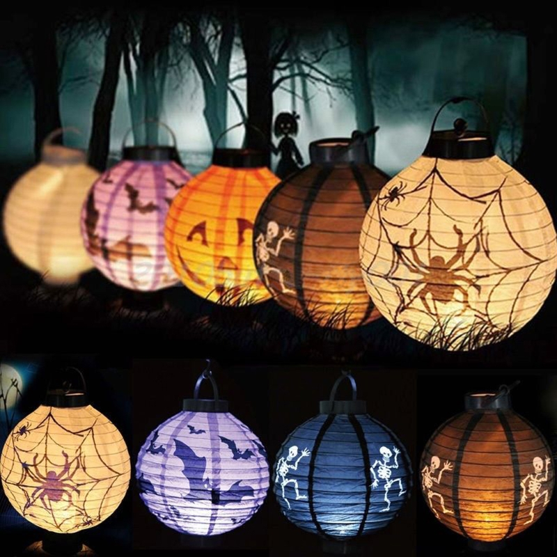 New Decoration Paper Led Lantern Hanging Pumpkin Lamp Party Home Props H15