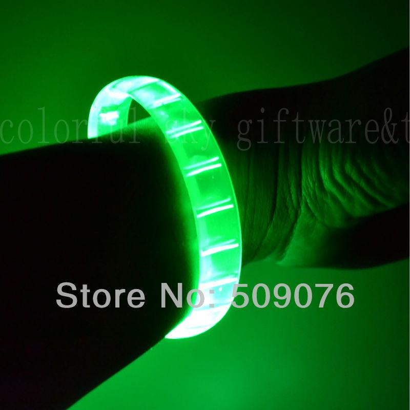 Free shipping 720pcs/lot make LOGO led bracelets flashing Multicolor bracelet blinking bracelet for holiday supplies