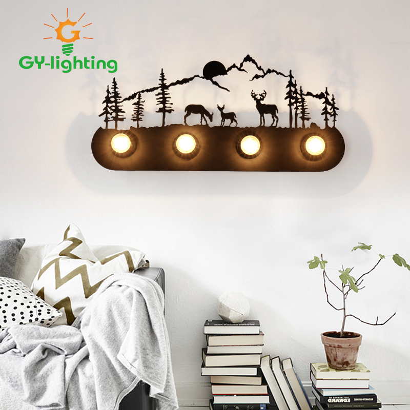 Modern LED Mirror Front Lights Bathroom lamp Wall Sconce Lampe Magical Comics Pattern Wallpapers Bedroom iron wall lamp mirror front wall sconce with frosted glass lampshade hotel bedroom bathroom mirror front dresser mirror lights