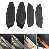 4pcs Microfiber Leather Front / Rear Door Panels Armrest Covers Protective Trim for Nissan QASHQAI J10 2007 2012 2013 2014 2015