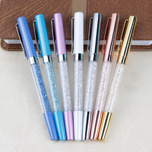 PHANTACI – ensemble de stylos à bille cristal et diamant en métal créatif, recharge de papeterie 0.5mm, stylo à bille pour Signature, fournitures scolaires et de bureau