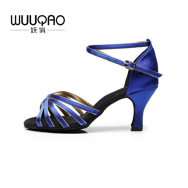 WUUQAO Women Latin Dance Shoes heeled Ballroom Dancing Shoes for Women Ladies Girls Tango Shoes