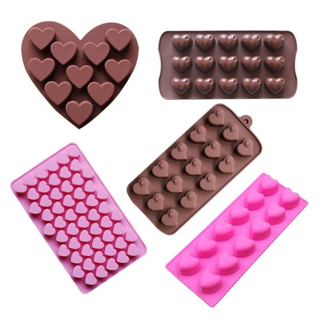 Muffa del Cioccolato del silicone di figura Del Cuore della torta strumenti bake