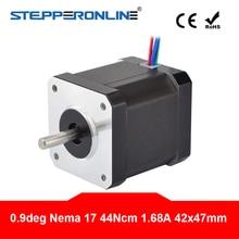 цена на 0.9 Degree Nema 17 Stepper Motor 44Ncm(62.3oz.in) 1.68A 4-lead Nema17 Step Motor 42 x 47mm 3D Printer CNC Robot