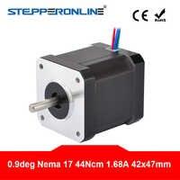 0,9 grados Nema 17 Motor paso a paso 44Ncm (62.3oz.in) 1.68A 4-plomo Nema17 de Motor paso a paso x 42x47mm 3D impresora CNC Robot