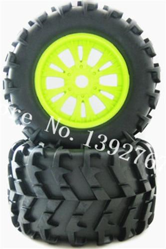 2Pcs Rubber Sponge Tires Rim Wheel Tyres 150mm*80mm Hexagon Adapter 17mm For RC Remote Control Car 1/8 Nitro Truck HSP HPI Baja