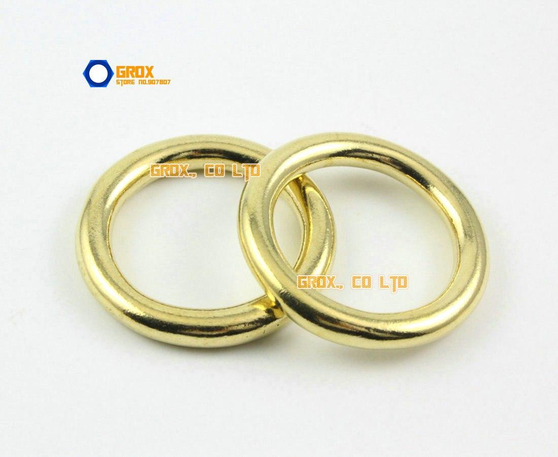 8 Pieces 25mm Solid Brass O Ring For Purse Bag Handbag Strap