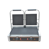 110/220V 3600W Commercial Electric Contact Griddle Grill Press Plate Steak Machine Sandwich Panini Grill Meat EU/AU/UK/US Plug