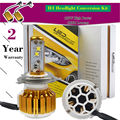 TAITIAN 180W 18000LM Hi/Low H4 LED Headlight Bulbs Conversion Kit 6500K Headlamps