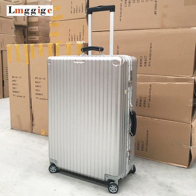 "20""24""26""29""inch Aluminum frame+PC+ABS Hardside Luggage,Vintage Rolling Suitcase,Nniversal wheel Password Lock Travel Bag"