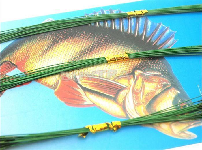 equipamento de pesca iscas linha verde líder