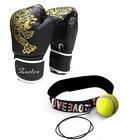 ★  1 пара боксерских перчаток Kick & 1 шт. Скорость бокса мяч мужчины женщины обучение Guantes MMA  ✔