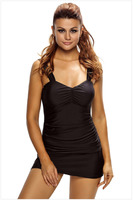 Sexy Swimsuit Skirt New Solid Tankini Swim Top Plus Size Sport Swimming Suit For Women Ruched