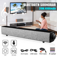 20W bluetooth Speaker 4000mAh Wireless Bass Soundbar Big Power HiFi Subwoofer Home Theater Loudspeaker w/Mic USB AUX RCA for PC