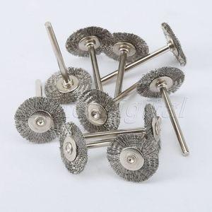 Image 3 - Accessoires Dremel, brosse rotative en acier, brosses à fil dremel pour meuleuse, 22mm, 10 pièces