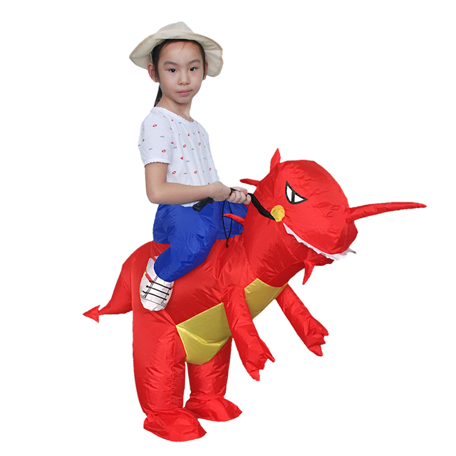 Inflatable Red Dinosaur Kids Costume T-Rex Cosplay Clothes For Girl Boy Riding Horse Toy  sc 1 st  AliExpress.com & Inflatable Red Dinosaur Kids Costume T Rex Cosplay Clothes For Girl ...