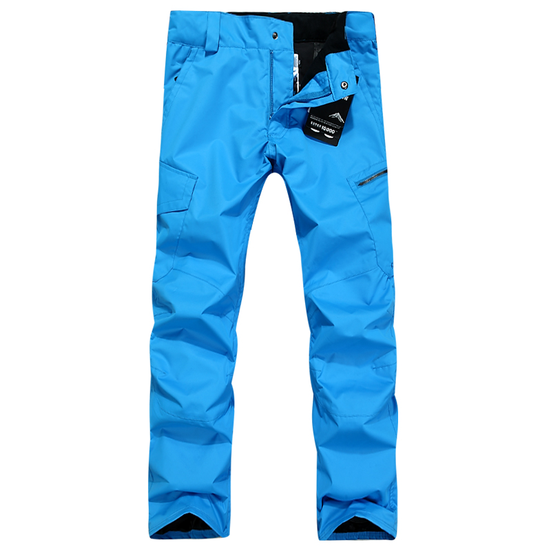 GSOU SNOW winter orange snowboard pants men yellow ski pants men snow skiing pantalones esqui snowboard hombre big size