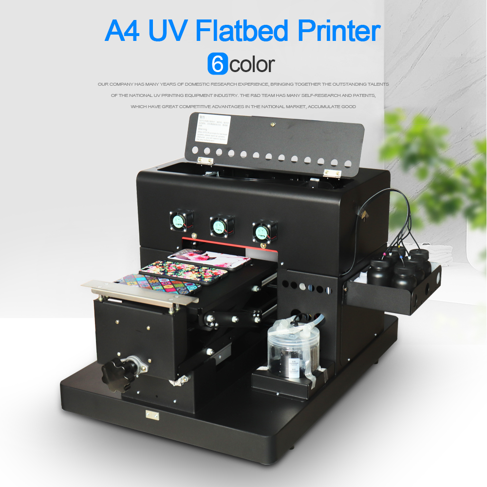 2018 A4 Size LED UV Printer 6 Color for Leather Phone Case TPU ABS etc Directly