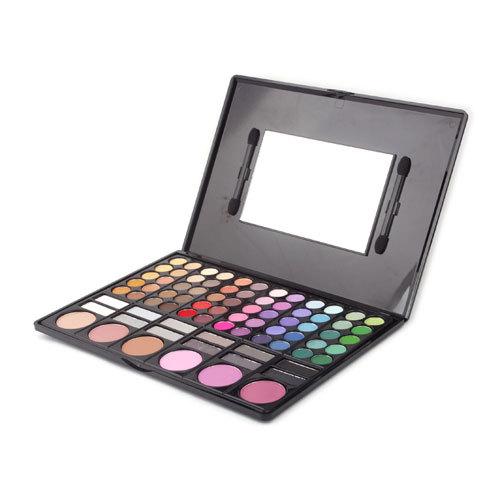 Súper ventas Pro a la moda sombra de ojos completo 78 Color Makeup Eyeshadow Palette Kit del cepillo con espejo #1704