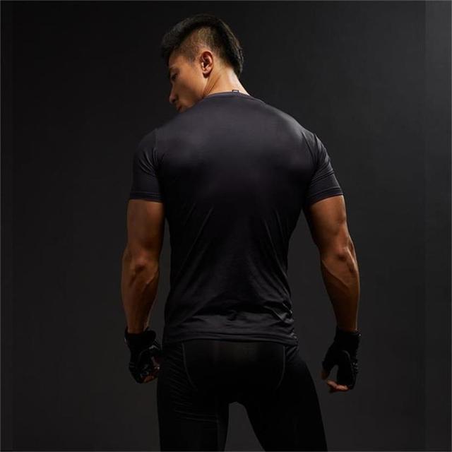 Punisher Gym Sport Short Sleeve T Shirt Men T-Shirt Male Crossfit Tee Captain America Superman tshirt Fitness Compression Shirt  1