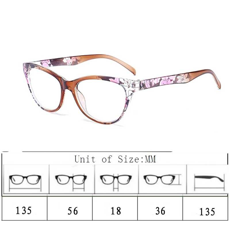a6f9f0e42c ... Cat Eye Women Reading Glasses Mens Resin Anti Fatigue Reading-glasses  Brand Women s Glasses Transparent