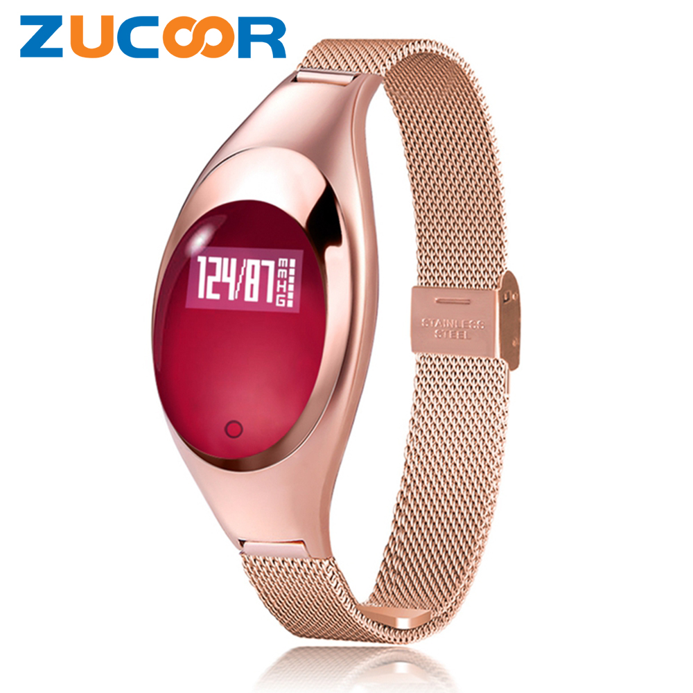 Blood Pressure Oxygen Smart Bracelet Watch Z18 Heartrate Monitor Band Wristwatch Bluetooth Sport Activity Luxury For iOS Android