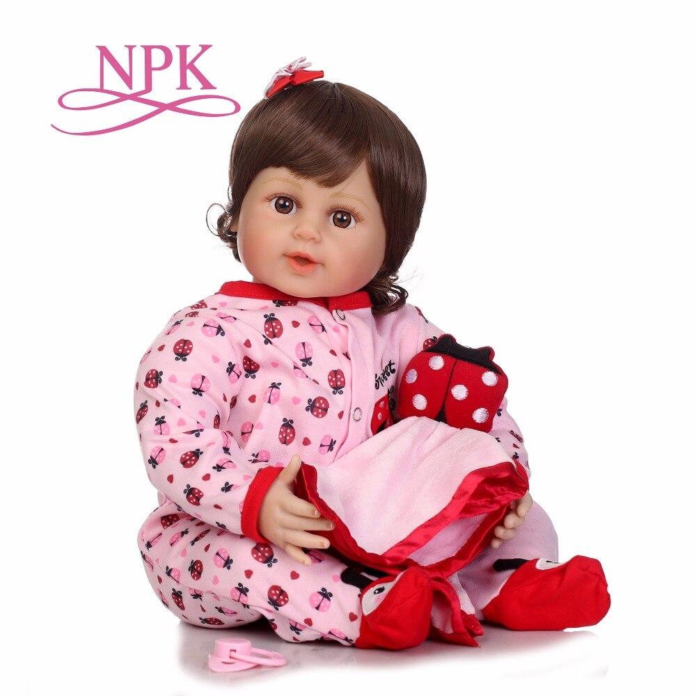 """NPK 22 """"nuovo arrivo del bambino rinato Silicone vinile adorabile Realistico del bambino Del Bambino Bonecas ragazza regali di compleanno giocattoli per i bambini-in Bambole da Giocattoli e hobby su  Gruppo 1"""