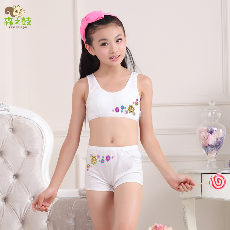 Hot sale Girls underwear sets Undies Puberty Teenagers Student Sport Set  Girl Cotton Underwear Set Training 54e47deaa