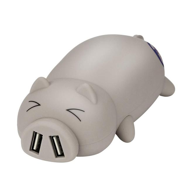 Adorable Piggy Design Portable Dual USB Port Power Bank 10000mAh For Iphone 1