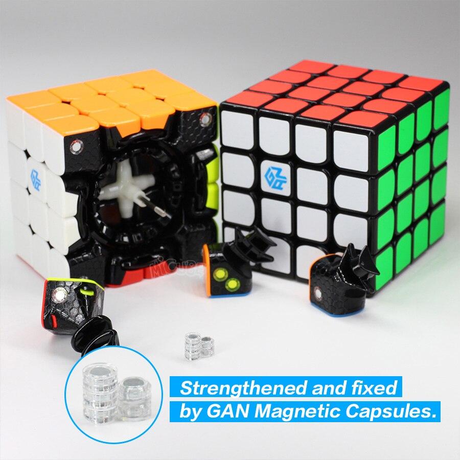 GAN 460 M Cube magnétique 4x4 Cube magique 4x4x4 Gan 460 M vitesse Gan460 M Cubo Magico 4*4 Puzzle professionnel sans autocollant Gan Cube - 4
